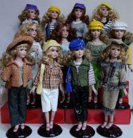 Porcelánové panenky Retro styl
