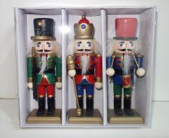 Dřevěné figurky- vojáček Louskáček  set 3 kusy, 16 cm