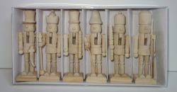 Dřevěné figurky balení 13 cm 6 kusů