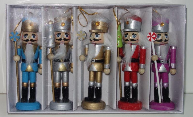 Dřevěné figurky balení 5 vojáčků (098087)