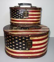 Ozdobné retro kufříky 2 kusy