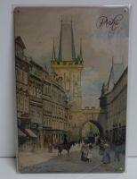 Plechové retro cedule Praha
