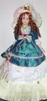 Porcelánová panenka Baronka 57 cm