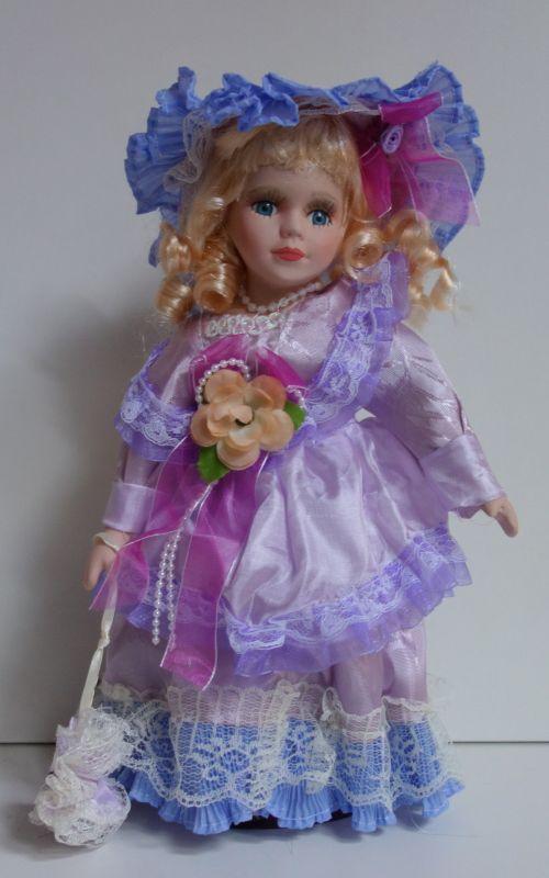Porcelánová panenka Fialka- 32 cm (0322378