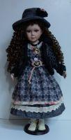 Porcelánová panenka Franceska 63 cm