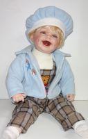 Porcelánová panenka Ludvíček - 53 cm
