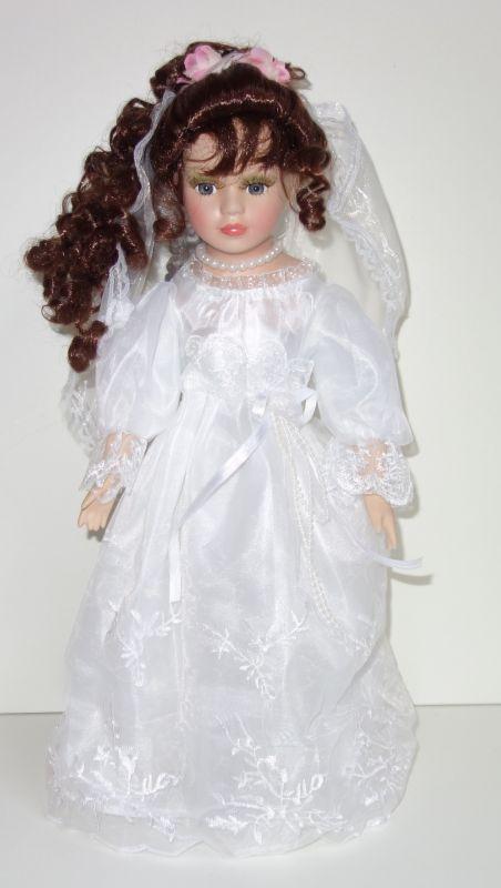 Porcelánová panenka Nevěsta - 42 cm (0426888)