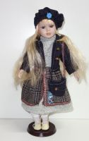 Porcelánová panenka Nina - 42 cm (042701)