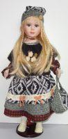 Porcelánová panenka Andělka 63 cm
