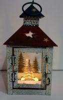 Vánoční lucerna 20 cm