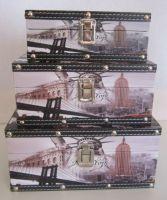 Ozdobné kufříky 3 kusy