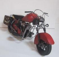 Plechová Historická motorka (099044)