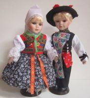 Porcelánové panenky v kroji - 32 cm