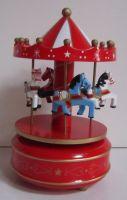Kolotoč s hracím strojkem - svítí