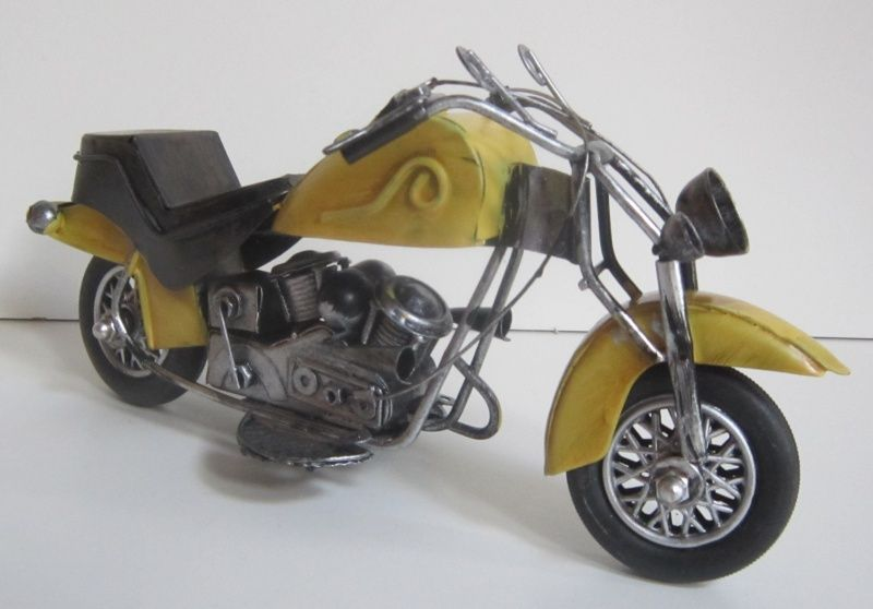 Plechová historická motorka - velikost 24 cm (0990067)