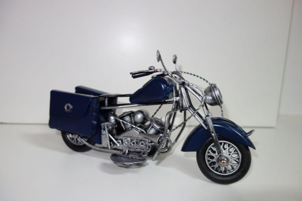 Kovová historická motorka - velikost 28 cm (0990072)
