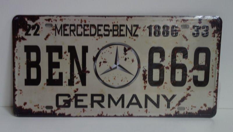Plechová retro cedule. Mercedes Benz