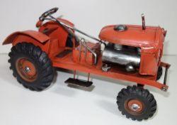 Historický kovový traktor   24 cm