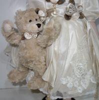 Porcelánová panenka 55 cm otáčecí hlava (999101)