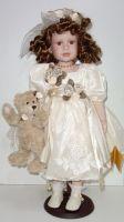 Porcelánová panenka  55 cm otáčecí hlava
