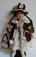 Porcelánová panenka Eva - vinyl - 50 cm otáčecí hlava (999995)