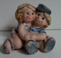Figurky- Holka s klukem v námořnickém stylu 001