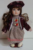 Porcelánová panenka Viky - 22 cm