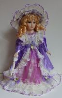 Porcelánová panenk Viola - 42 cm