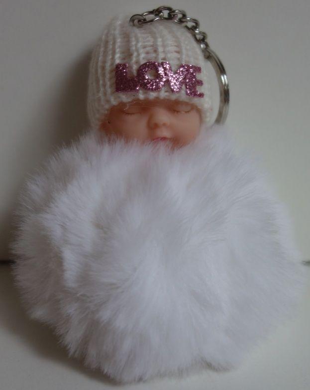 Klíčenka s miminkem v bílé barvě (028)