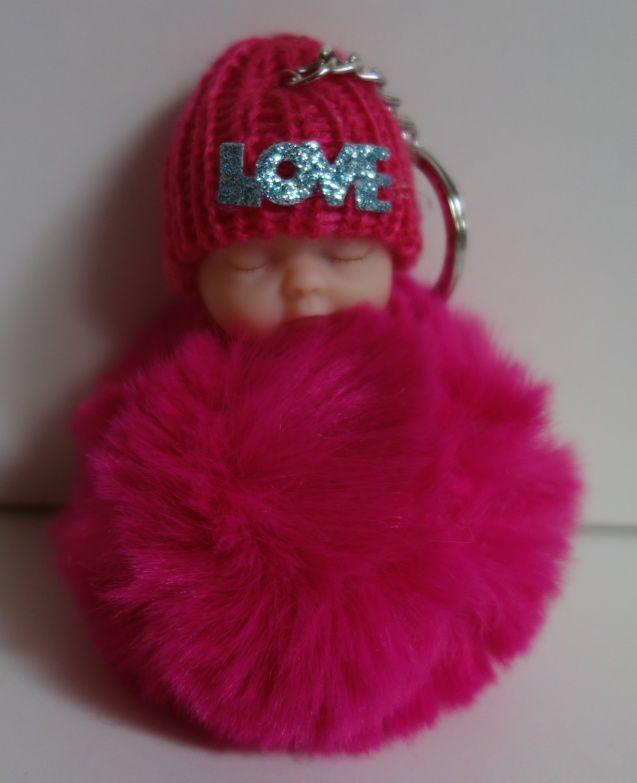 Klíčenka s miminkem v růžové barvě (029)