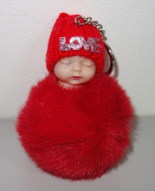 Klíčenka s miminkem v červené barvě (031)