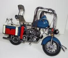 Model historické motorky 33 cm