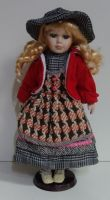 Porcelánová panenka Bibi-- 42 cm
