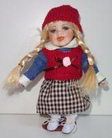 Porcelánová panenka  Dana - 22 cm